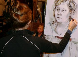 Barbara Fugate Family of Faces Project in Process