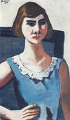 Quappi in blue 1926 beckmann